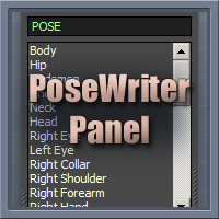 PoseWriter Panel 2D Software Netherworks