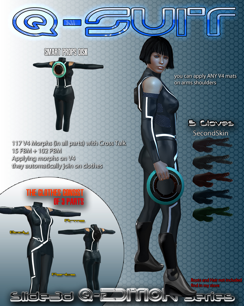 Slide3D Q Suit for V4