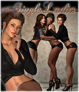 DMs Single Ladies 3D Figure Assets 3D Models DM