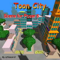 Toon City 3D Models JeffersonAF