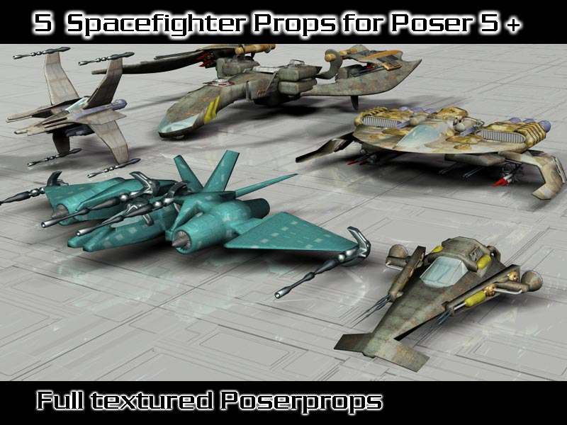 3ddj`Spacefighter 1