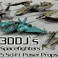 3ddj`Spacefighter 1 3D Figure Essentials 3D Models Django