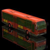 E.M.T. Bus (for Poser) 3D Models Digimation_ModelBank