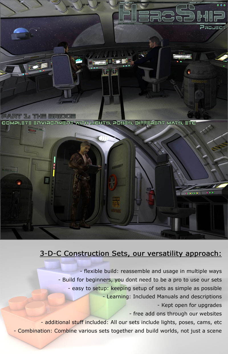 HeroShip Cockpit by 3-D-C