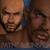 Payne and Punisher 3D Figure Assets 3D Models reciecup