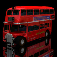 Bus AEC London  for Poser  3D Models Digimation_ModelBank
