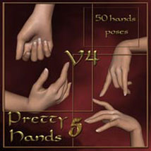 Pretty Hands 5 - V4 3D Figure Assets ilona