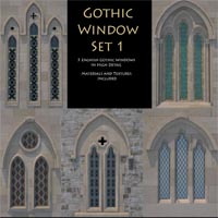 Gothic Window Themed Props/Scenes/Architecture hofxjj