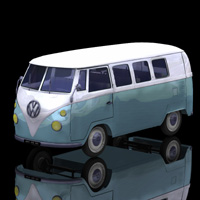 Volkswagen Combi (for Poser) 3D Models Digimation_ModelBank
