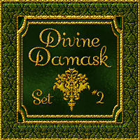 Divine Damask-Set No. 2  2D And/Or Merchant Resources Tutorials Themed fractalartist01