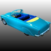 SIMCA P60 CUSTOM 3D Models Ourias3D