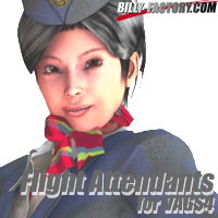 Flight Attendants for VAGS4 3D Figure Assets billy-t