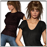 Dynamic Tee for V4 3D Figure Assets vyktohria