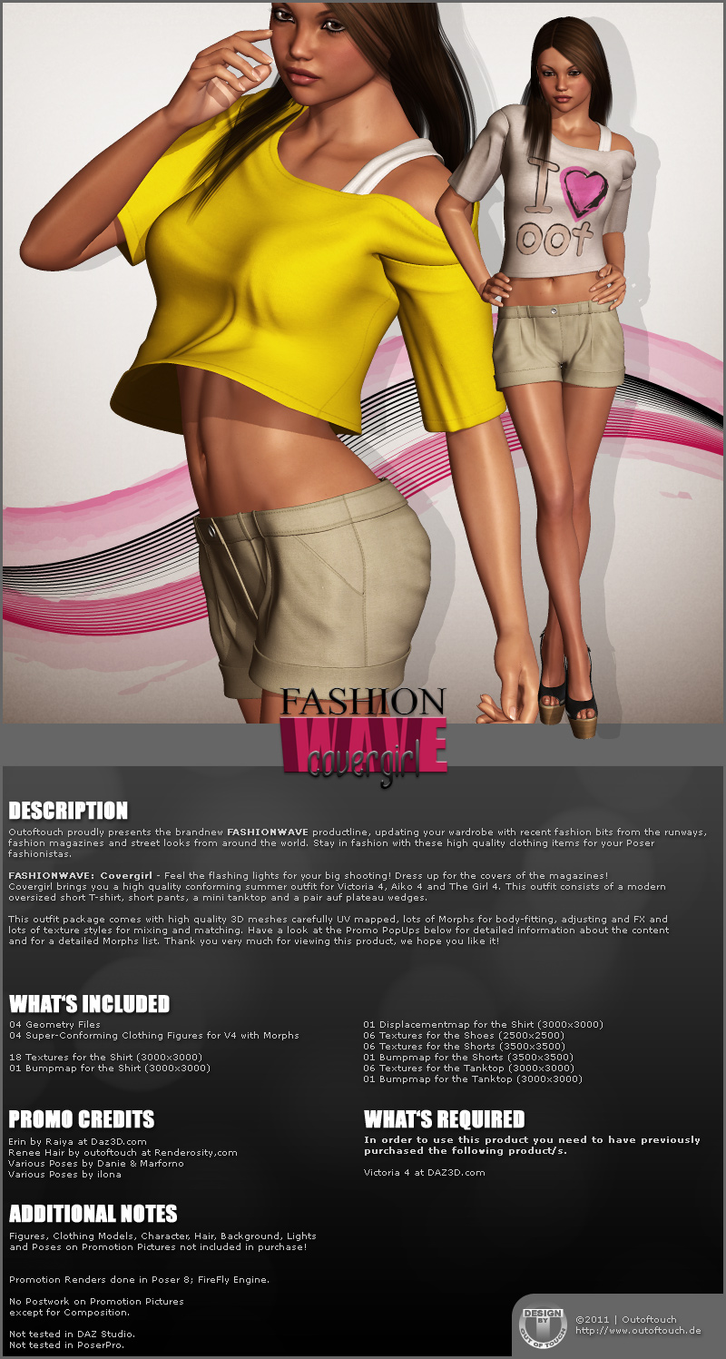 FASHIONWAVE Covergirl for V4 A4 G4