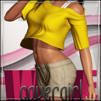 FASHIONWAVE Covergirl for V4 A4 G4 3D Models 3D Figure Essentials outoftouch