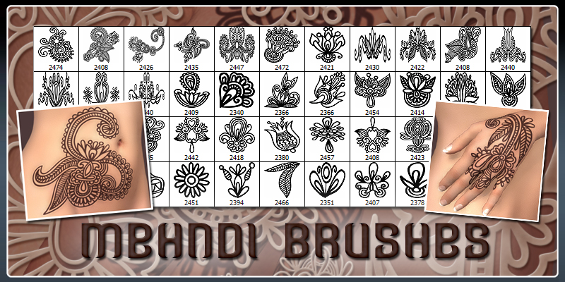 Mehndi Brushes