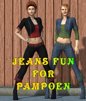Jeans Fun for Pampoen 3D Figure Assets MargyThunderstorm