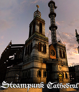 Steampunk Cathedral 3D Models 3D Figure Assets Cybertenko
