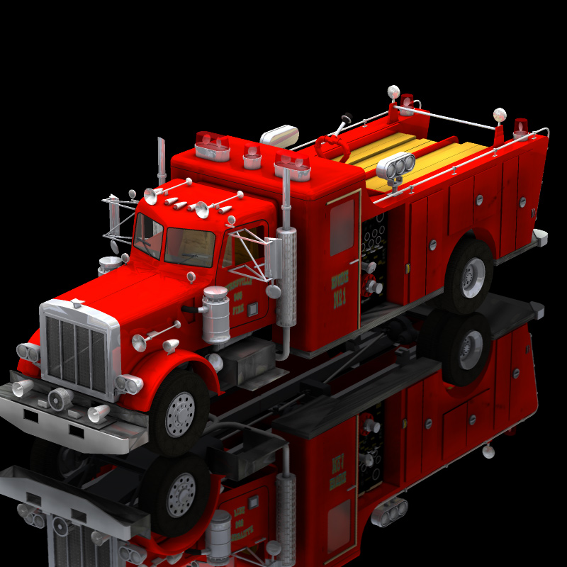 Firefight Truck (for Poser)