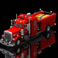 Firefight Truck (for Poser) 3D Models Digimation_ModelBank