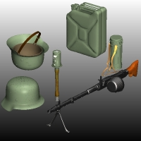 WW2 GERMAN ARMY KIT 3D Models Nationale7