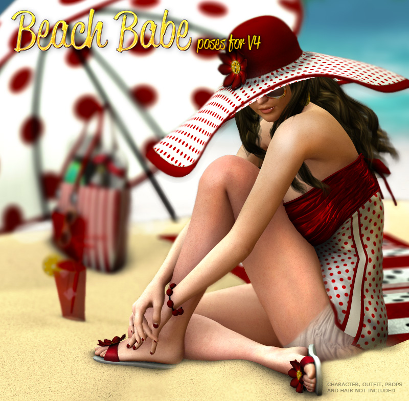 Beach Babe Poses for V4