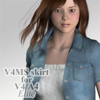 V4MS skirt for V4A4 3D Figure Assets kobamax