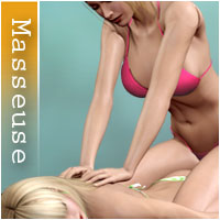 Masseuse 3D Figure Assets 3D Models halcyone