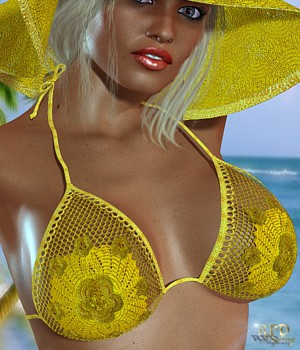 Swinging 70s for Hongyu's Bikini 3D Figure Assets 3D Models -renapd-