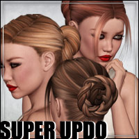 Super Updo Hair Pack 3D Figure Assets outoftouch