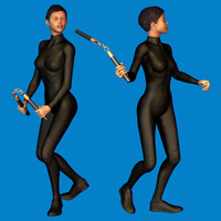 Nunchuck Poses 3D Figure Essentials 3D Models Oskarsson