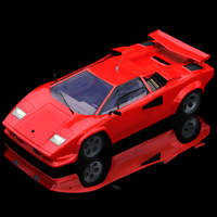 Lamborghini Countach (for Poser) 3D Models Digimation_ModelBank