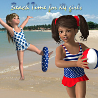 Beach Time K4 3D Figure Essentials 3D Models LMDesign