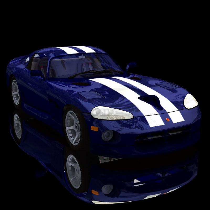 Dodge Viper (for Poser) by Digimation_ModelBank