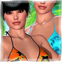 Beach Exotics for Hongyus Bikini 3D Figure Assets 3D Models Romantic-3D