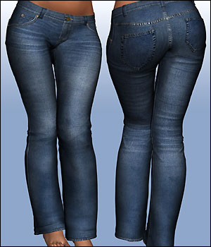 The Jeanz for V4, A4, G4, S4, Elite 3D Figure Assets RPublishing