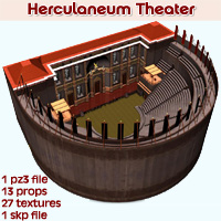 Herculaneum Theater 3D Models enxo69