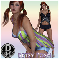 Betsy Posh for v4, A4, G4 3D Figure Assets RPublishing