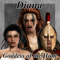 Diana - Goddess of the Hunt 3D Figure Assets greyson5