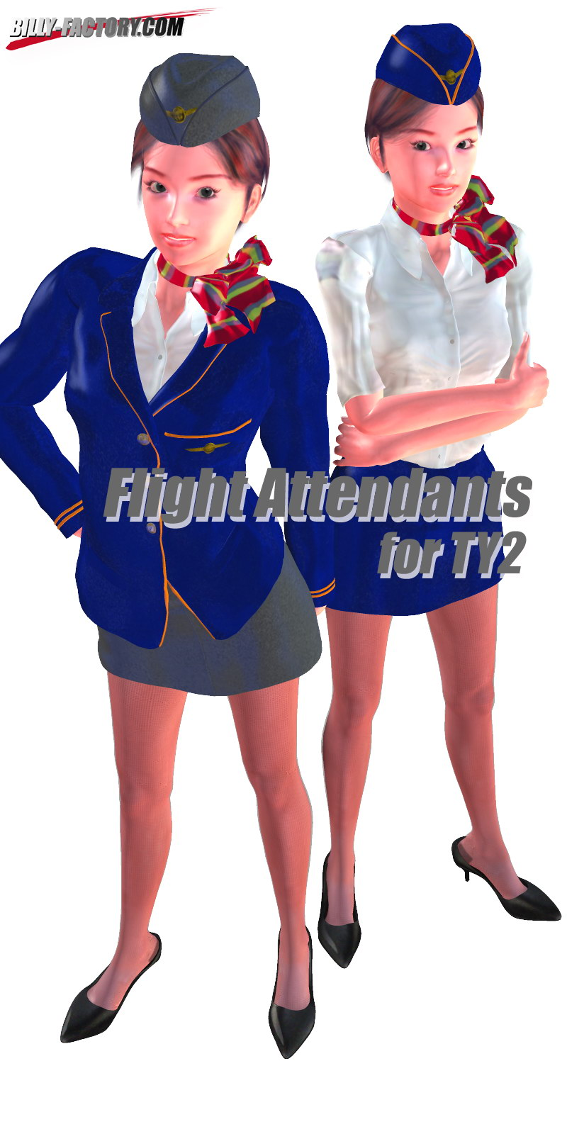 TY2 Flight Attendants by billy-t