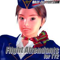 TY2 Flight Attendants 3D Figure Assets billy-t