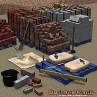 Builder Pack 1 3D Models Simon-3D