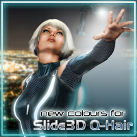 Slide3D New Colours for S3D Q-Hair 3D Figure Assets Slide3D