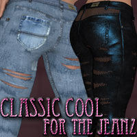 Classic Cool for The Jeanz 3D Figure Assets kaleya