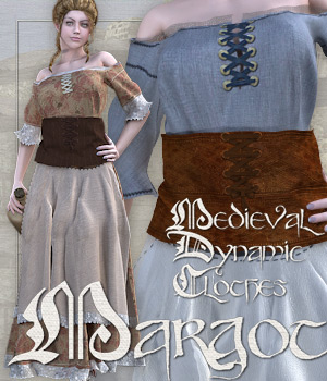 Margot Medieval Clothes 3D Figure Essentials Tipol