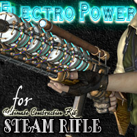 Electro Power for Steam Rifle Themed Props/Scenes/Architecture Cybertenko