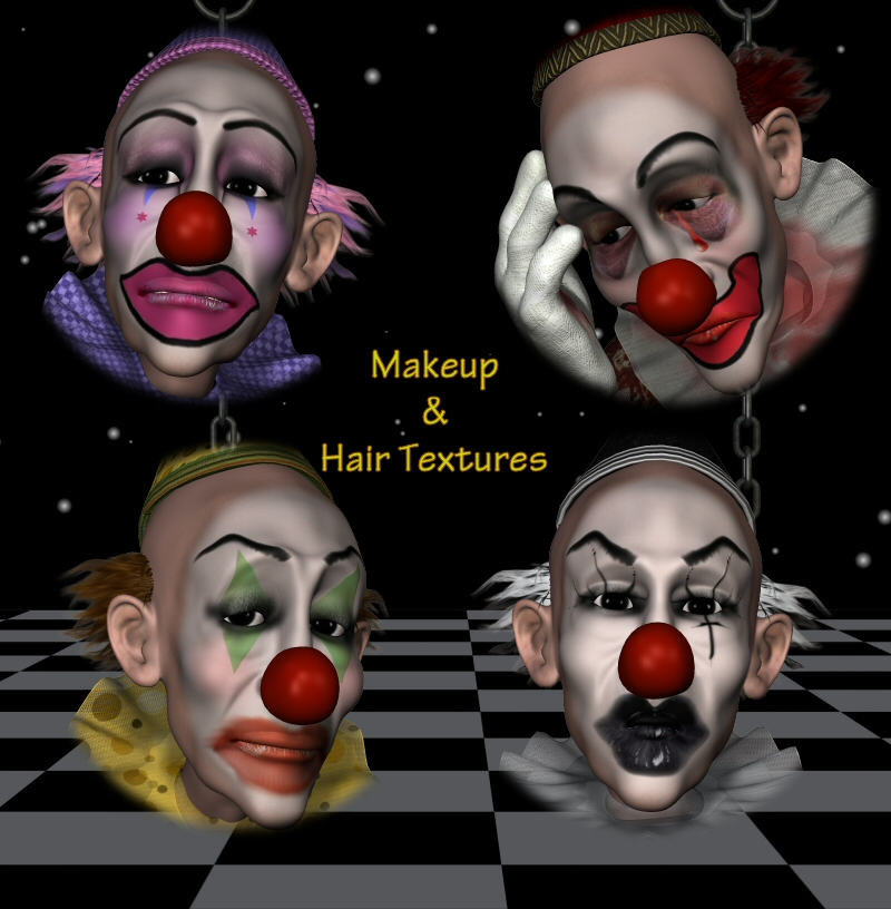 Harpert Clown MakeUps Plus Hair