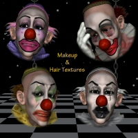 Harpert Clown MakeUps Plus Hair 3D Figure Assets 3DTubeMagic