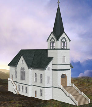 Country Church 3D Models RPublishing