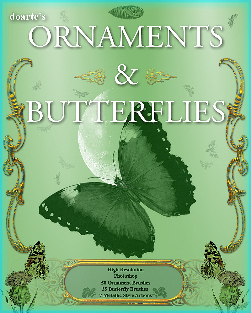 doartes Ornaments and Butterflies